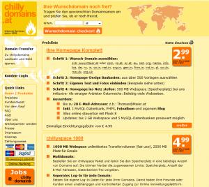 ChillyDomains Webhosting und Domains aus Wien