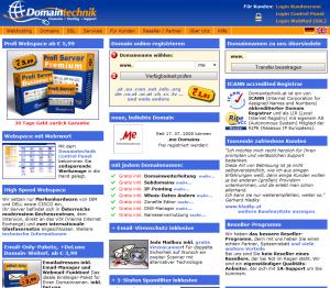 Domaintechnik Webhosting und Domains