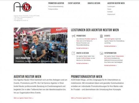 Wordpress Webdesign Referenz Promotionagentur Neutor Wien