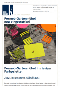 E-Mail-Marketing Newsletter Möbel Karner