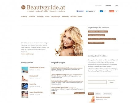 Beautyguide.at - Onlinemagazin und Wordpress Webdesign Referenz