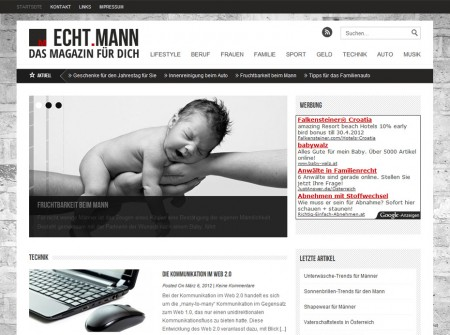 Echtmann.at WorPress Webdesign Referenz