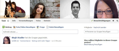 Standard Facebook Titelbild für Gruppen