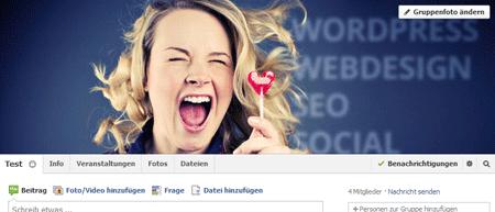 Facebook Titelbild Gruppenfoto ändern