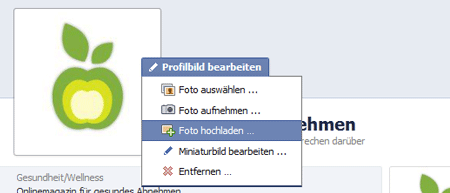 Facebook Profilbild upload 180 x 180 Pixel