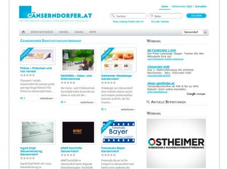 Gaenserndorfer.at Firmenverzeichnis WordPress Webdesign Referenz