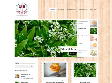 Guterezepte.at Rezepteverzeichnis WordPress WebdesignReferenz