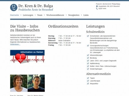 Kren-Balga.at Ärzte-Website Webdesign Referenz