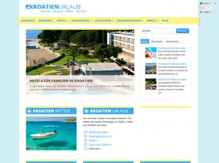Kroatien-urlaub.at Tourismusmagazin WordPress Webdesign Referenz