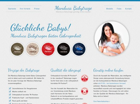 Manducababytrage.at WordPress Landingpage Referenz