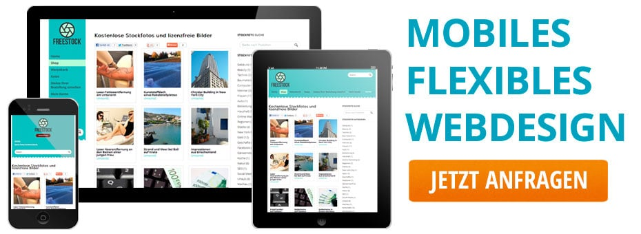 Mobiles Webdesign für professionelle, suchmaschinenoptimierte Webseiten