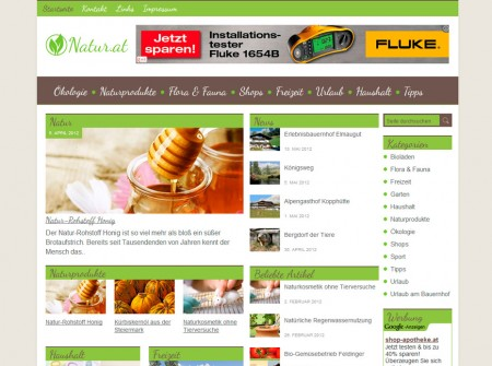 Natur.at Onlinemagazin WordPress Referenz