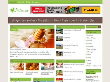 Natur.at Onlinemagazin WordPress Referenz
