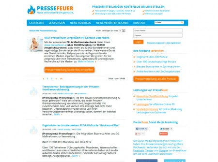 Pressefeuer.at PR-Portal Referenz