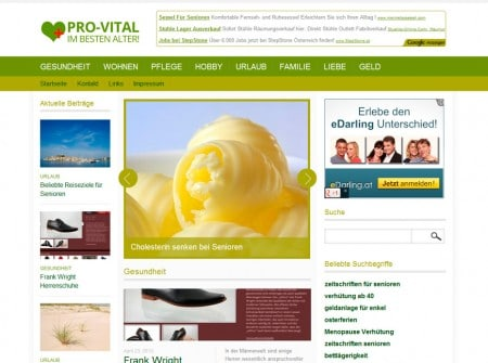 Pro-Vital.de Blogdesign WordPress Referenz