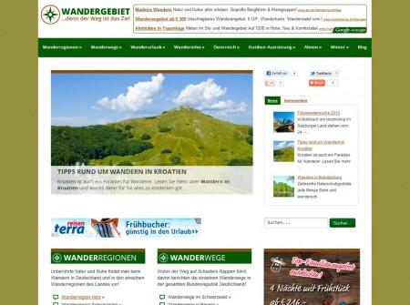 Wandergebiet.de Onlinemagazin WordPress Webdesgin Referenz