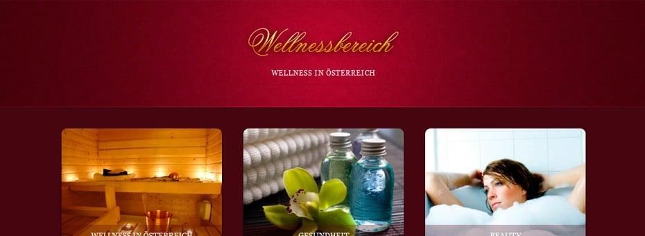 Wellnessbereich.at WorPress Webdesign Referenz