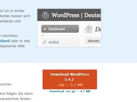 Wordpress Download in Deutsch