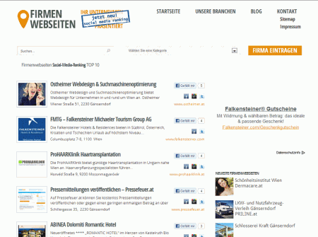 WordPress Webdesign Referenz Firmenwebseiten.at