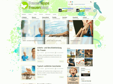 WordPress Webdesign Referenz Frauentipps.at
