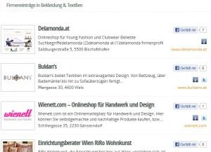 Firmenverzeichnis aus Österreich