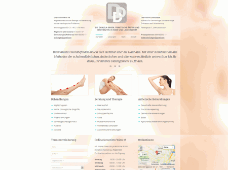 WordPress Webdesign Referenz Ärzte-Website Hautarztdegen.at