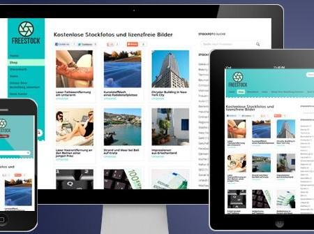 Mobiles Webdesign in 3 verschiedenen Ansichten