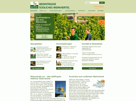 WordPress Webdesign Referenz Tourismus-Website Weinstrasse-sued.at