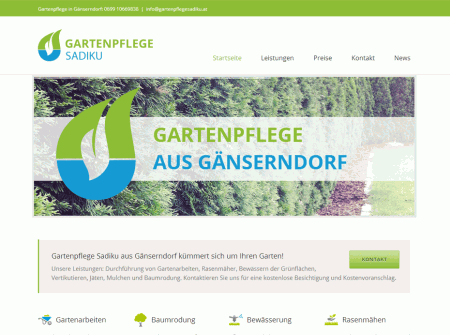 Mobiles Webdesign Gartenpflegesadiku.at