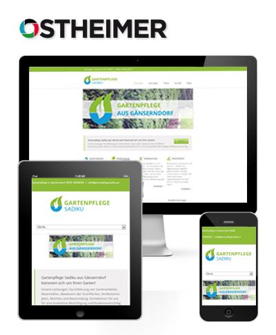 Mobiles Webdesign für Gartenpflegesadiku.at aus Gänserndorf