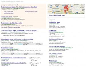 Google Suchergebnisse für Dachdecker Wien