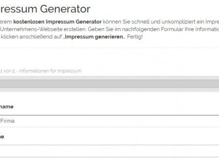 Kostenloser Impressum Generator