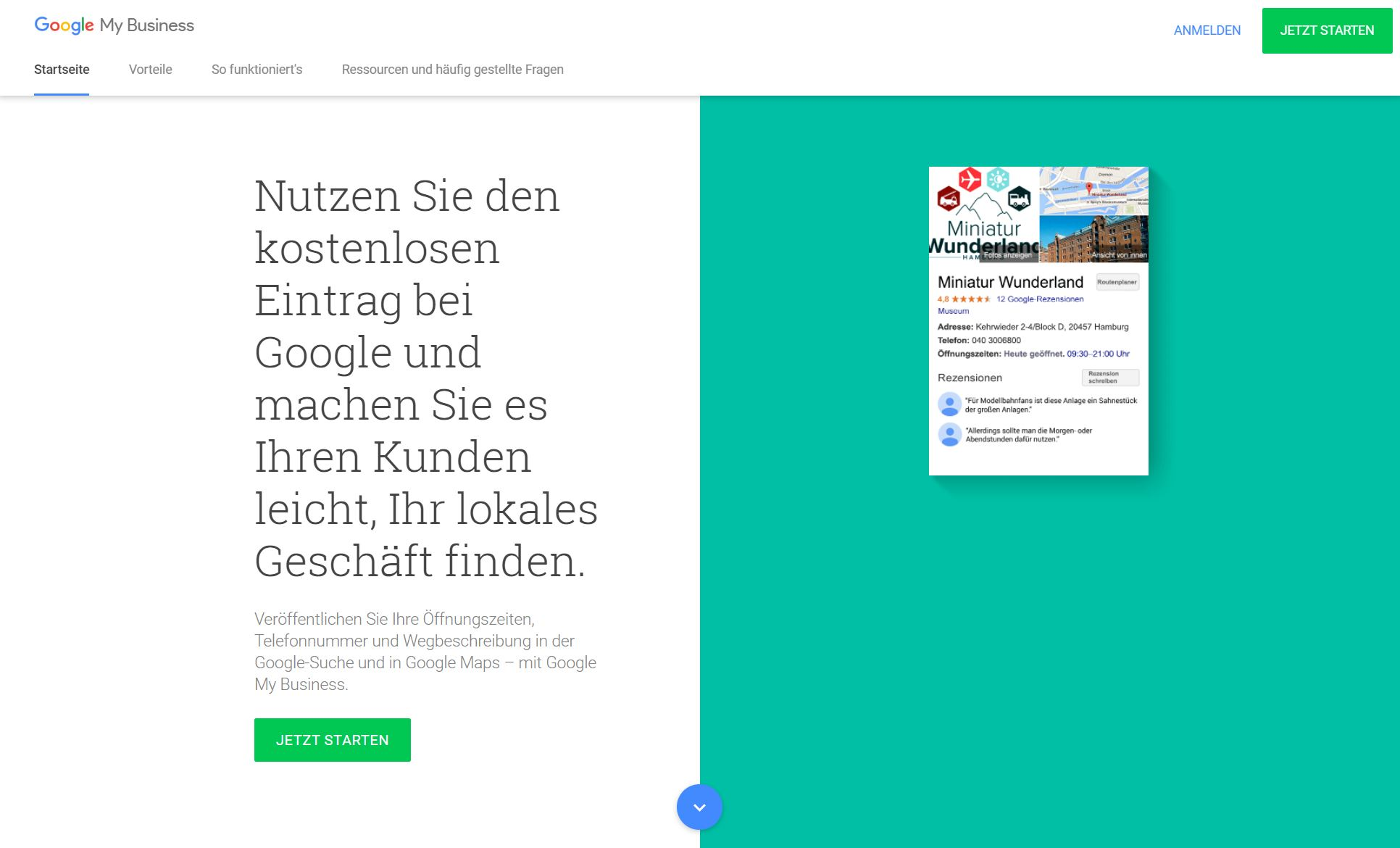 Google My Business anmelden